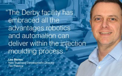 Robots increasing productivity in injection moulding